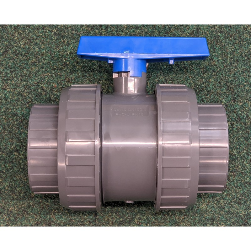 """Ball valve (split coupling) solvent weld 4"""" (110mm)"""