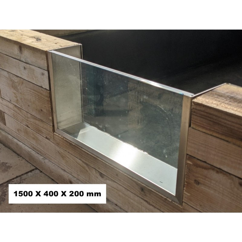 Koi Pond Viewing Infinity Window 1500 x 400 x 200 - PREORDER