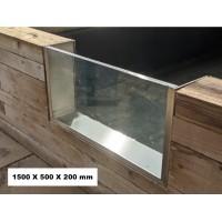 Koi Pond Viewing Infinity Window 1500 x 500 x 200 - PREORDER