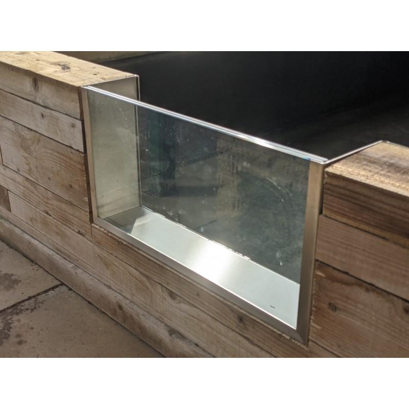 Koi Pond Viewing Infinity Window 1500 x 500 x 200