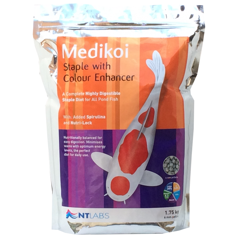 NT Labs MediKoi Staple with colour enhancer 1.75Kg 6mm