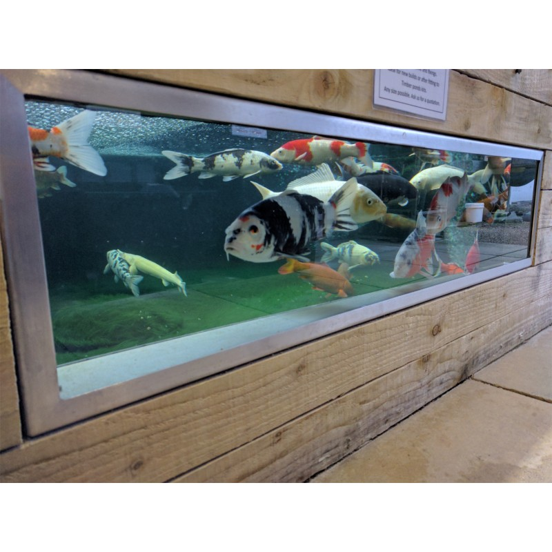 Koi Pond Viewing Window 1700 x 500 x 200mm