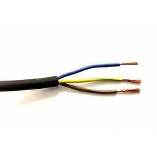 Waterproof Electric 3-core Rubber Cable .75mm