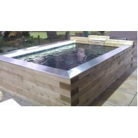 Timber Pond Kit 4.8m x 2m x 1m Deep